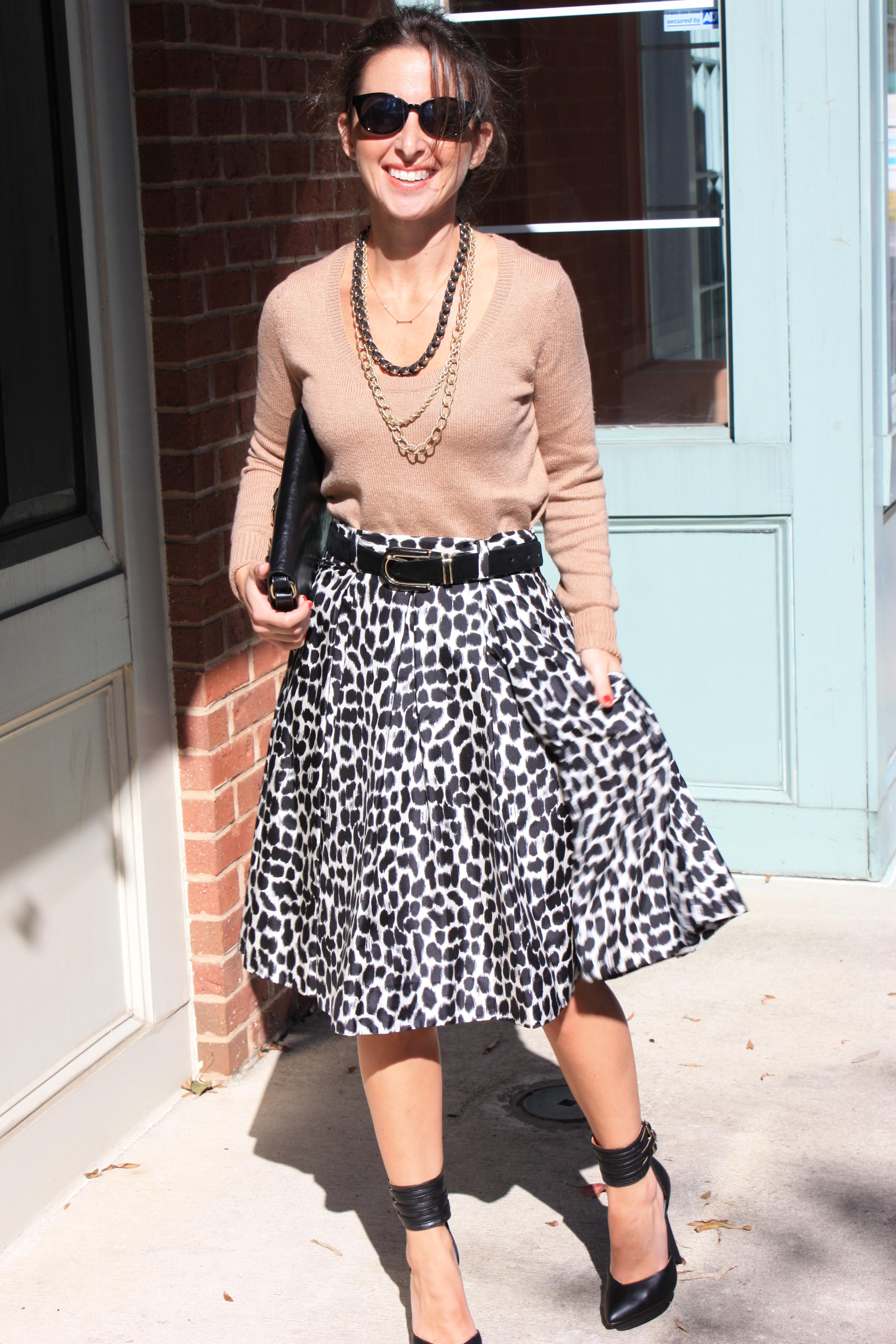 eb753a07bb2 Sweater  Old Navy   Skirt  Kate Spade via TJ Maxx (similar here)   Shoes   Colin Stuart via Victoria Secret (similar here)   Bag  Mango (similar here)  ...